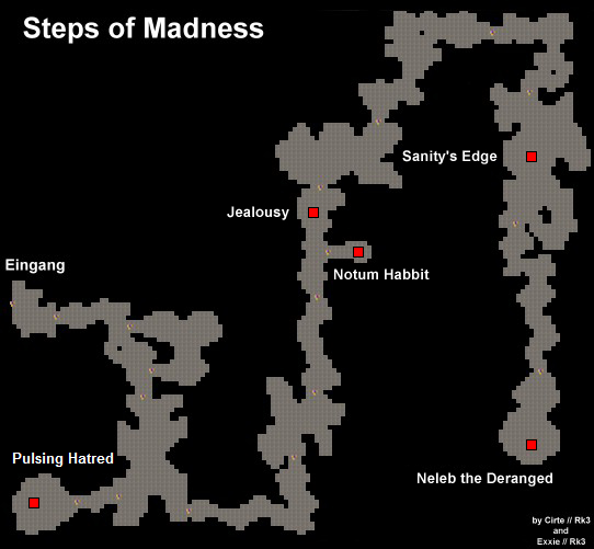 Map vom Steps of Madness